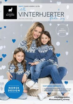 Vinterhjerter jakke i blått – Du Store Alpakka Baby Barn, Alpaca, Cardigans, Sweaters, Knitwear, Knitting Patterns, Diy And Crafts, Crochet Hats, Blog