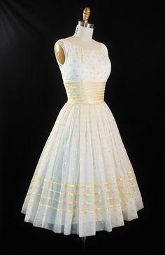 1950's Polka Dot Organza Dress