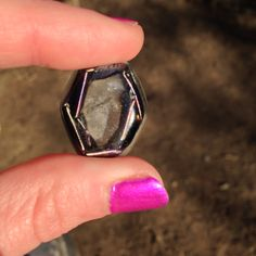 For sale. Heated metal shavings in resin with one quartz crystal. Orgonite