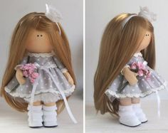 Fabric doll Handmade doll Tilda doll Interior by AnnKirillartPlace