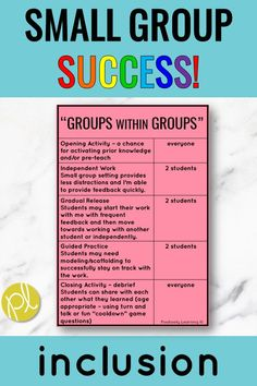 Small Group Lesson Planning Ideas - Positively Learning