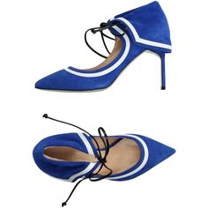 Giannico Court (1,595 ILS) ❤ liked on Polyvore featuring shoes, pumps, bright blue, stiletto shoes, animal pump, stiletto heel pumps, lace up pumps and heels stilettos