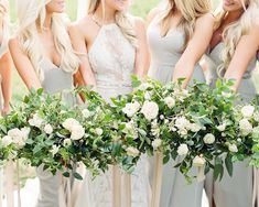 Organic Mountain Wedding Inspiration earthy palette bridesmaid dresses