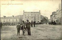 Market Square, Ballaghaderreen County Mayo, My Ancestors, Old Postcards, Old Photos, Irish, Ireland, Entertainment, Marketing, History
