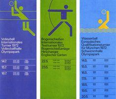 design by Otl Aicher for Munich Olympics Otl Aicher, Event Branding, Poster Design, Summer Olympics, 1972 Olympics, Design System, Visual Communication, Grafik Design, Graphic Design Typography