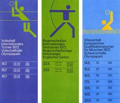 Munich Olympics 1972 designed by Otl Aicher  grafiktrafik.tumblr.com