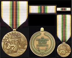 The Cold War Medal proudly commemorates your service during the Cold War. Please note that it is privately struck and may not be worn on the uniform of active duty military personnel. However, it is the perfect companion to the Cold War Recognition Certificate offered by the United States government to military and civilian veterans who served the United States at any time between 1946 and 1991.