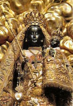 The Black Madonna of Einsiedeln, Switzerland. She is said to have interceded in a number of miracles.  I've been to her chapel, relablos on the walls relating of her many miracles surround the inside vestibule of the church.