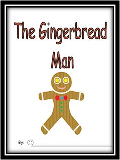 The Gingerbread Man Emergent Reader/Writing Tool product from Can-You-Read-It on TeachersNotebook.com