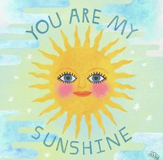 Brush Lettering, Hand Lettering, Art Prompts, Gouache Painting, You Are My Sunshine, Modern Calligraphy, Tweety, Illustrators, Snow