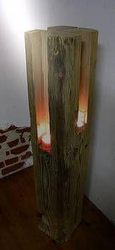 Windlicht aus Altholz