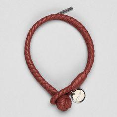 Love! Fancy - Intrecciato Leather Knot Bracelet by Bottega Veneta