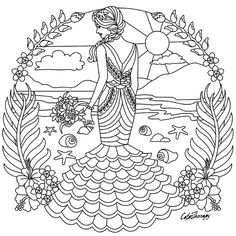 Fashion colouring page