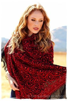Le Chateau Sequoia Rouge Shawl — Seasons by The Kashmir Company