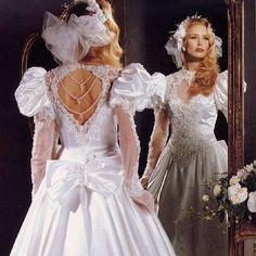 Wedding Attire, Wedding Gowns, Big Skirts, Wedding Styles, Wedding Ideas, Vintage Weddings, Bridal Photography, Bridal Style, 1980s