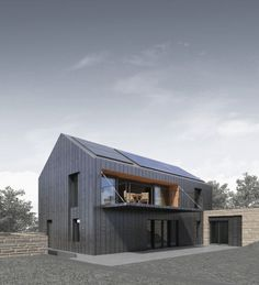 Architecture Derbyshire Passivhaus von Bridge Architects More Mens Underwear – The New Sensation Art Residential Architecture, Architecture Design, Modern Barn House, Minimalist Decor, Minimalist Kitchen, Minimalist Interior, Minimalist Living, Minimalist Bedroom, Modern Minimalist