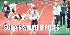 they couldn't handle all d swag that coming from Suga