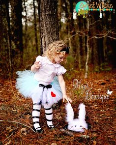 Going to try and make something like this for my niece. my sister in law is obsessed with alice in wonderland..... Alice in Wonderland Inspired Tutu  Baby Tutu  by MissMayasBowtique, $22.50