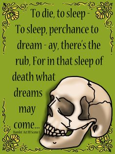 Set of 9 Shakespeare's Hamlet Quote Posters. Also included are all of the posters with white backgrounds to save on ink. $