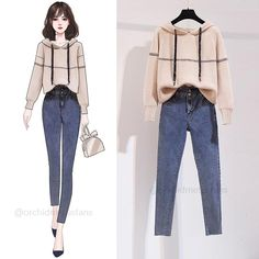 Old Fashion Dresses, Fashion Drawing Dresses, Kpop Fashion Outfits, Korean Outfits, Work Fashion, Cute Fashion, Dress Design Sketches, Foto Casual, Casual Jumpsuit