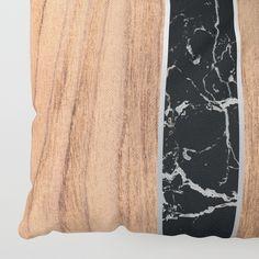 Wood Grain Stripes - Black Granite Floor Pillow by Natural Collective Co. Geometric Decor, Black Granite, Wood Texture, Wood Grain, Plank, Floor Pillows, Hardwood, Grains, Triangle