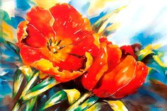 Tulip Open and Close By Celito Medeiros Canvas Print #CMS13