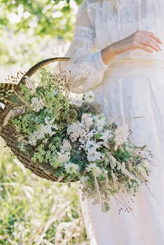 French lace and silk long sleeved wedding dress by Joanne Fleming Design for a summer bride, flowers by Martha & the Meadow, photo by Mariel Hannah Garden Wedding, Summer Wedding, Cottage Wedding, Old World Wedding, English Summer, Wedding Flowers, Wedding Dresses, Bride Flowers, Lace Wedding