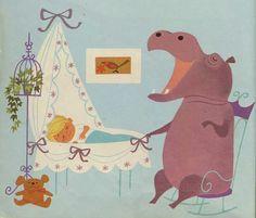 Animalarium -- Elisabeth Brozowska, Isidore L'Hippopotame, 1969