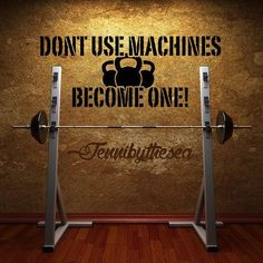 Dont use Machines Crossfit Gym wall decal art by jennibythesea,