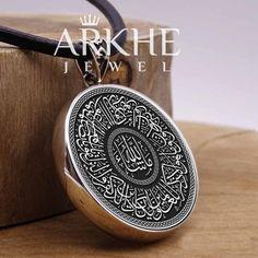 Nazar Ayeti Yazılı Gümüş Kolye - Arkhe Jewel