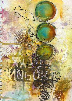 FORWARD art journaling page