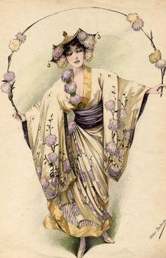 Vintage costume illustration