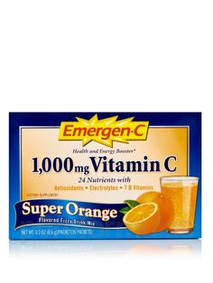 Emergen-C is the best when you feel run down! It works great for me.