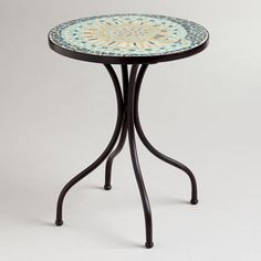 I purchased this table and it is adorable.  Great table for the price.  One of my favorite discoveries at WorldMarket.com: Shell Cadiz Mosaic Accent Table.