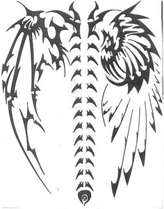 tribal tattoos wings - Google Search