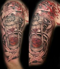 hourglass-clock-tattoo-on-half-sleeve.jpg 600×694 pixels