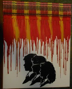 Harry Potter Gryffinder Melted Crayon Painting by OnceUponACrayon, $45.00