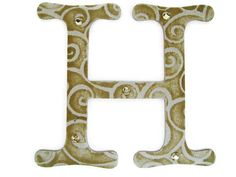 Letter H initial