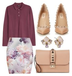"""Untitled #759"" by meryem-mess ❤ liked on Polyvore featuring H&M, Valentino and Kate Spade"
