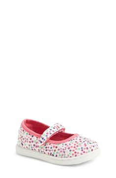 TOMS 'Tiny - Confetti' Mary Jane (Baby, Walker & Toddler) available at #Nordstrom