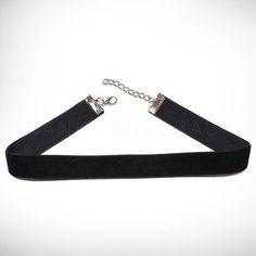 Black Velvet Choker Necklace Ribbon 90s Retro by HanksMinerals