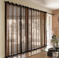 Bamboo Curtains: Top 7 Shortlisted - Hometone - Home Automation and Smart Home Guide Sliding Door Curtains, Patio Door Curtains, Bamboo Curtains, Bamboo Panels, Grommet Curtains, Window Curtains, Curtains Living, Sliding Doors, Curtain Styles