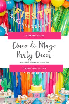 Celebrate May with Cinco de Mayo party supplies. Shop for Cinco de Mayo plates, napkins, decorations, party favors, and more. Bring the whole crew for this family-friendly fiesta! Fiesta Party Decorations, Birthday Party Decorations, 25th Birthday Parties, 20s Party, Baby Shower, Colorful Party, Taco Tuesday, First Birthdays, Party Supplies