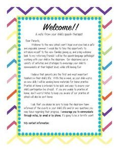 A Welcome Note To Introduce Yourself To Parents At The Beginning Of A New School Year Or As New Stud Letter To Parents Preschool Welcome Letter Welcome Letters