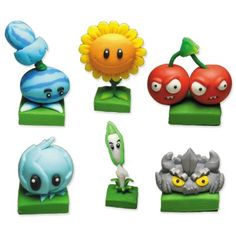 Cheap 6 x Plants vs Zombies 2 Toys Polymer Clay Game Role Figures Display Toy Sale Online with Free Delivery Plants Vs Zombies, Action Figure Display, Action Figures, Zombie Birthday Parties, Fondant Animals, Sculpey Clay, Zombie 2, How To Make Clay, Cute Clay