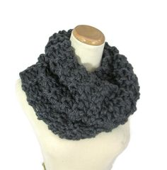 Outlander Inspired Cowl Chunky Cowl  Granite by ArlenesBoutique