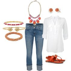 """""""The Jewelry makes it!"""" on Polyvore  www.stelladot.com/angelynhorrell"""