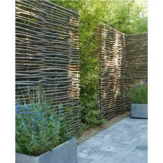 woven willow privacy screens