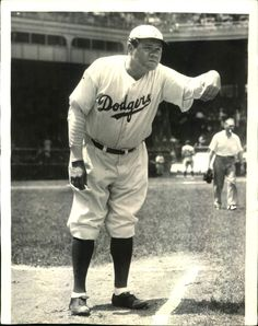 1938 Brooklyn Dodgers first base coach Babe Ruth