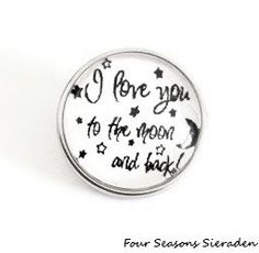 I love you to the moon and back snap charm chunk ginger snap charm snap button popper interchangeable jewelry